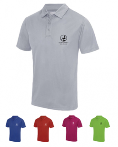 Herre performance polo Logo Kontrast